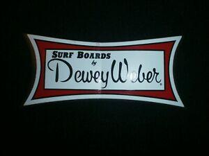 "DEWEY WEBER SURFBOARDS CLASSIC MEDIUM SIZE STICKER 6"" X 2.5"""