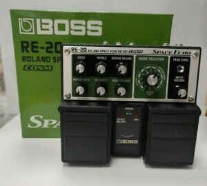 BOSS RE-20 Roland Space Echo Reverb Delay Guitar Twin Pedals Effect Boxed
