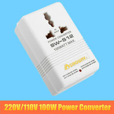 220V/110V Step Down/Up AU US 100W Power Converter Transformer Voltage Converter