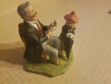 """1989 Figurine """"Doctor and The Doll"""" Norman Rockwell Annual Collector's Club"""