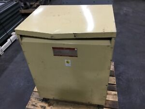 GE 9T23B3875 Dry Type Transformer 112.5 KVA 3 Phase 208/120 480 #2788DK