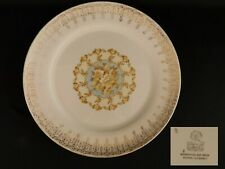 Limoges American Candlelight DINNER PLATE 22k Gold Trim Blue & Yellow flowers