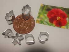 1:12 Scale Metal Pansy Clay Cutter Dolls House Miniature Sugarcraft Accessory