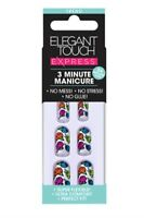 ** NEW ~ Elegant Touch Express 3 Minute Manicure ~ Neon Roses **
