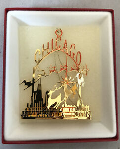 Ornament Marshall Field's Chicago My Kind Of Town 24 Kt Gold Finish