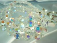 WOW STUNNING X Sparkling AB Crystal Vintage 50's Lovely Shorter Necklace 731My0
