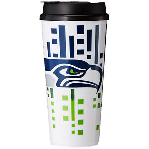 The Memory Company NFL Seattle Seahawks Hype Travel Plastic Cup Tumbler 32oz