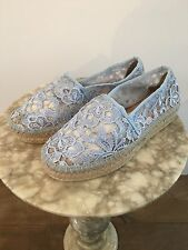 New Kurt Geiger Women's Pale Blue Lace Shoes Pumps Uk 4 Eu 37