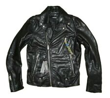 DIESEL L-WILLCOX LEATHER JACKET SIZE S 100% AUTHENTIC
