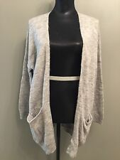 H&M Grey Wool Blend Grey Open Front Cardigan S