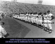 MLB 1958 Los Angeles Dodgers 1st Game in California L.A. Coliseum 8 X 10 Photo