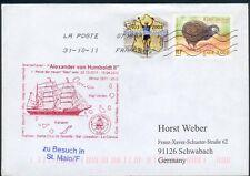 Frankreich Schiffspost mit St. Alexander von Humboldt II., orig. gelaufen