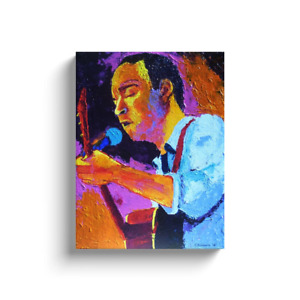 Dave Matthews Painting Gallery Wrapped Canvas Print