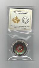 **2014**Canada, Christmas Ornament, Silver $25 Dollar Coin