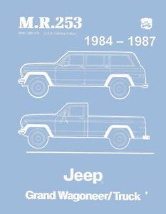 1984 1985 1986 1987 Jeep Grand Wagoneer Shop Service Repair Manual Book Guide