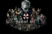 Resident Evil Characters- Wall Poster - 34 in x 22 in ( Fast shipping )