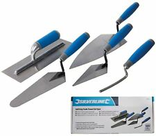 Silverline 5pc Plastering Brick Jointing Gauging Hand Trowel Tool Set Soft Grip