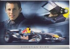 Christian Klien Red Bull F1 Promo Card Un Signed Formula 1.