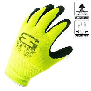 Better Grip Knit Latex Dip Nylon Sandy Latex Coated Work Gloves-BGS1