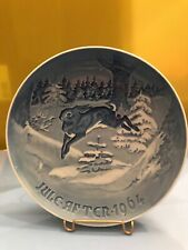 Bing & Grondahl Christmas Plate 1964 Grantroeel H. C. Anderson Rabbit