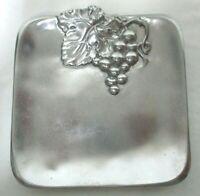 Arthur Court Rare Grape Serving Tray Platter Plate Aluminum 2005 Vintage silver