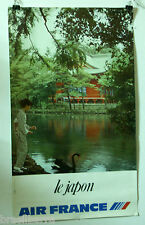 AFFICHE PUB : AIR FRANCE JAPON (Circa 1985)