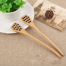 Wooden Hollow Out Heart Honey Stirring Spoon Stick Bar Coffee Drink Dipper Tool