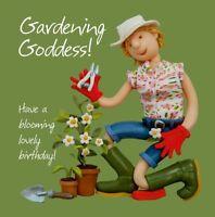 Birthday Card - Funny Humour Gardener Gardening Goddess One Lump Or Two NEW