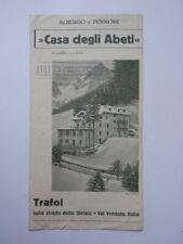 TRAFOI Albergo CASA ABETI Ortler Stelvio Val Venosta sci ski  brochure UTAT