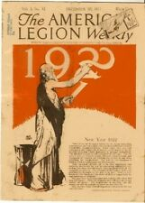 1921 The American Legion Weekly December 30, 1921 Gun Ad New Year
