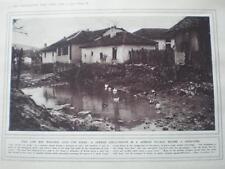 WW1 photograph shell crater Aleksinac Serbia 1916