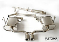 BMW MINI COOPER S R53 CAT BACK FLETCHER STAINLESS EXHAUST SYSTEM TWIN EXIT Z0229