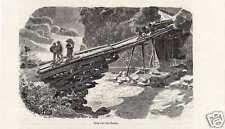 Antique print Brücke Tessin Ticino Suisse Switzerland