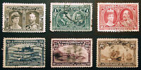 Canada #96-#99, #101, #103 1908 Nice Used Lot 6 items