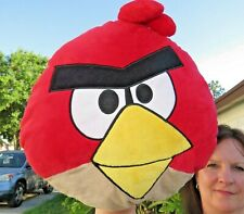 LARGE Red Angry Bird Pillow SUPER SOFT Plush Stuffed Animal Doll