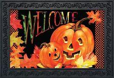 """Pumpkin Pals Halloween Doormat Indoor Outdoor Welcome Jack o'Lanterns 18"""" x 30"""""""