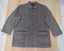 ERMENEGILDO ZEGNA Men's Cashmere Leather Dress Jacket Winter Coat Sz 56 / 46 XXL