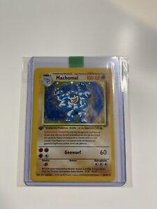Machomei Base Set 1. Edition, Holo 8/102 Pokemon Karte, TCG Pokémon Deutsch NM