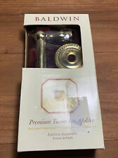 "Images By BALDWIN ""MYSTIC"" Polished Brass NEW Premium Tissue Roll Holder NEW!"