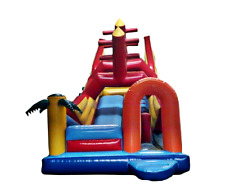 25x15x20 Commercial Inflatable Boat Bounce House Water Slide Obstacle Course
