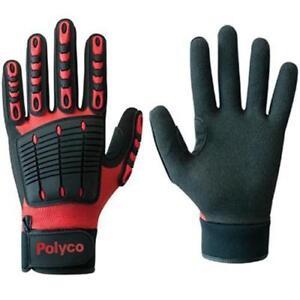 Polyco Multi-Task E Men Gloves Impact Protection Nitrile Palm Coating Medium (8)