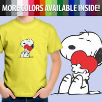 Peanuts Snoopy Charlie Brown Comics Heart Love Hug Toddler Kid Tee Youth T-Shirt