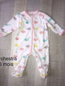 Orchestra 6 Mois Fille  : BABYGROS Pyjama Coton fleuri Été TBE