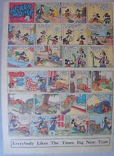 Mickey Mouse Sunday Page by Walt Disney from 7/23/1939 Tabloid Page Size