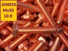 25 Stück Kupferschraube DIN EN ISO 4017  M6x30 10.9 hochfest stark verkupfert