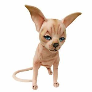 """Sphynx Cat Sitting Soft Plush Toy 12""""/30cm Hansa"""