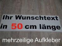 Wunschtext Aufkleber Auto Domain Beschriftung Schriftzug 50cm mehrzeilig !