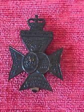 The Queen Royal London Rifles KRRC Cap Badge QEC Genuine British Army 37/8