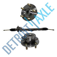 3 pc Set: Steering Rack & Pinion + 2 Wheel Hub Bearing Assembly - Chrysler Dodge