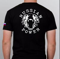 Russia T-shirt  vladimir putin RUSSIAN POWER ak-47 shirt ussian flag